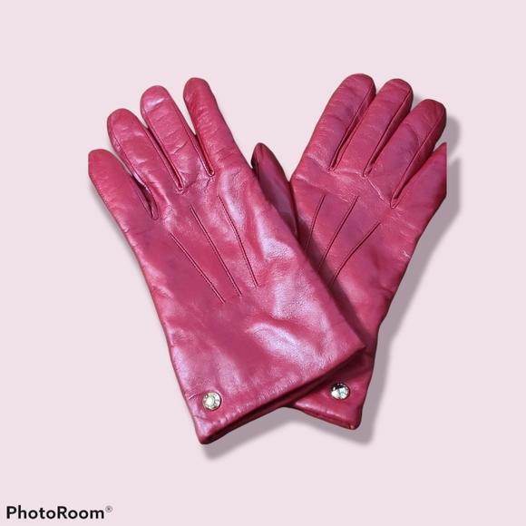 Coach Leather & Merino wool gloves ♡